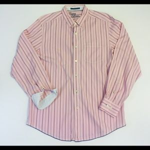 Tommy Bahama Jeans Mens L Striped Button Up Shirt